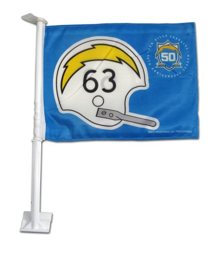 Nfl San Diego Chargers Retro Football Helmet Design Car