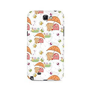 TAZindia Printed Hard Back Case Cover For Samsung Galaxy Note 2
