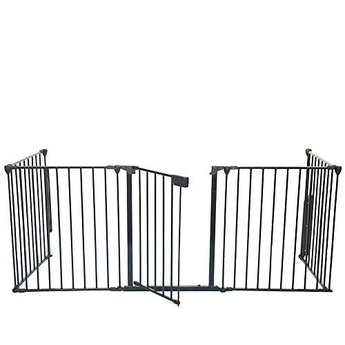 fireplace gate fence hearth gate pet dog cat fence black toddler gates
