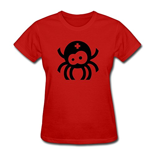 FQZX Women's Spider Baby T Shirt Red