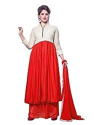 BK ENTERPRISE Women's White Georgette And Chain Dresses(bk-545_freesize)