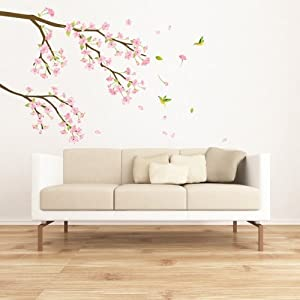 Cherry Blossoms Tree Branch Mural Wall Stickers Home