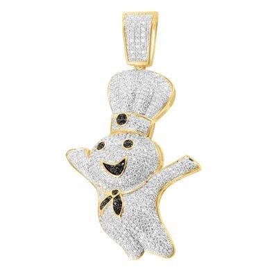 14-k-acabado-dorado-unico-pillsbury-chef-iced-out-negro-lab-diamond-colgante-de-classy