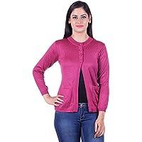 eWools Women's Woolen Cardigan (Revance-705_Pink_Large)