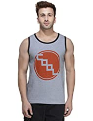 Rigo Grey Solid Cotton Sleeveless Scoop Neck Slim-Fit Vest