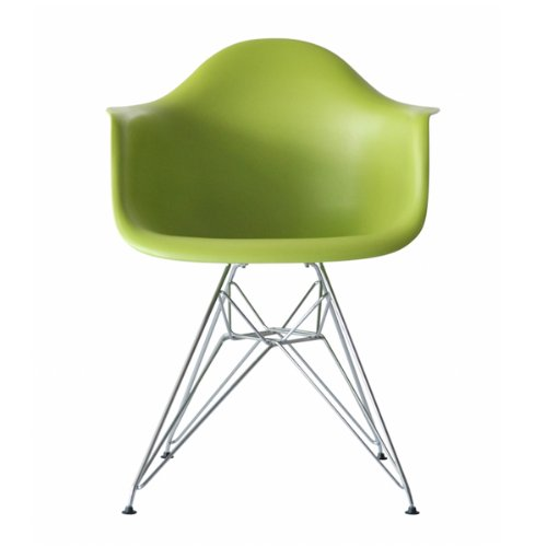 * Higher Quality * - Eames Eiffel DAR Lounge Dining Chair Green - Panton Era
