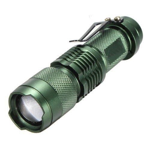 Wongmarket 7W 300Lm Mini Cree Led Flashlight Torch Adjustable Focus Zoom Light Lamp(1 Mode)