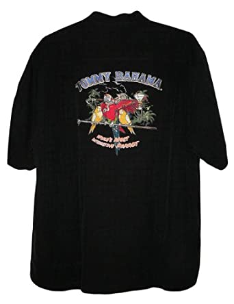 Tommy bahama embroidered world 39 s most interesting parrot for Tommy bahama embroidered silk camp shirt