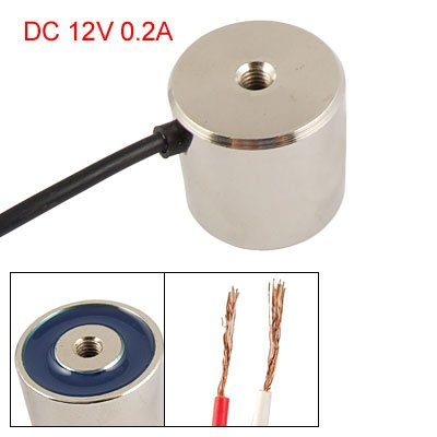 "1.26"" Od 10Kg Sucked Type Round Solenoid Dc 12V 0.2A back-164423"