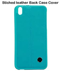 JKOBI(TM) Exclusive Stiched Leather Back Case Cover For HTC DESIRE 816 / 816G-CYAN