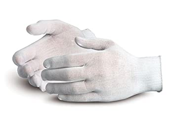 Superior STN120 Superior Touch Ultra Thin Nylon String Knit Glove with Knit Wrist Cuff, Work (Pack of 1 Dozen)