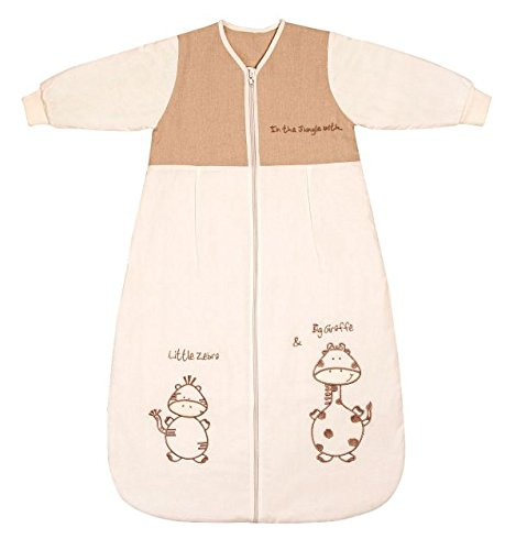 Winter Baby Sleeping Bag Long Sleeves 3.5 Tog - Cartoon Animal - 0-6 Months/28inch