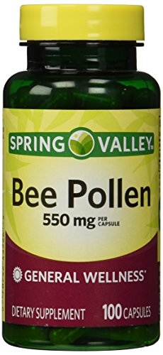 Spring Valley - Bee Pollen 550 mg, 100 Capsules