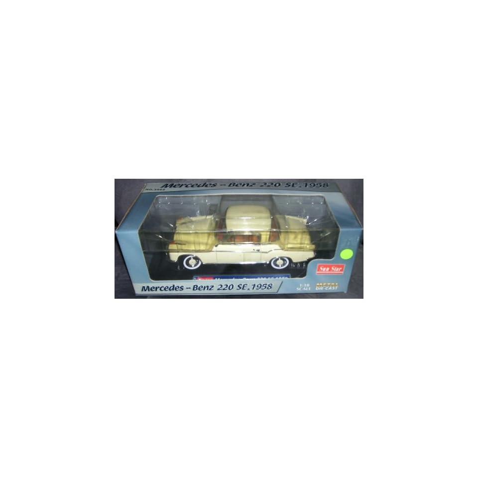 Sun Star 1958 MERCEDES BENZ 220 SE Diecast Car 118 Scale