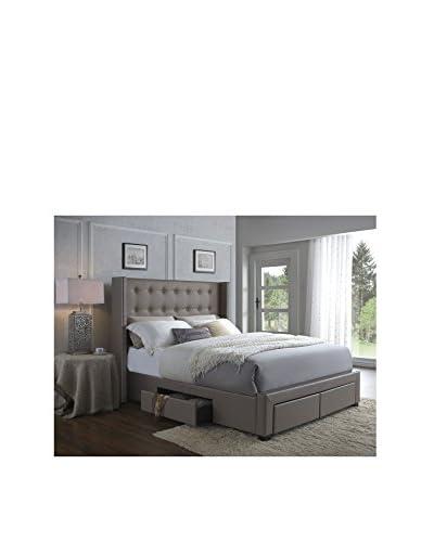 DG Casa Savoy Storage Wingback Bed