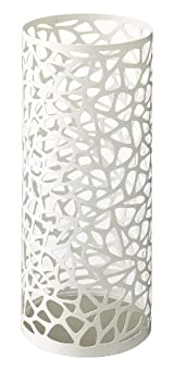 Nest - White Metal Round Umbrella Stand, Modern Home Decor