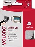 Velcro VEL-EC60214 20mm x 2.5m Brand Stick on Tape - White
