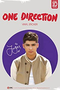 Official One Direction 1d Large Vinyl Sticker - Zayn Color by Global Merchandising
