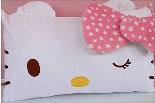 Hello Kitty Face Soft Pillowcase Pink - 1