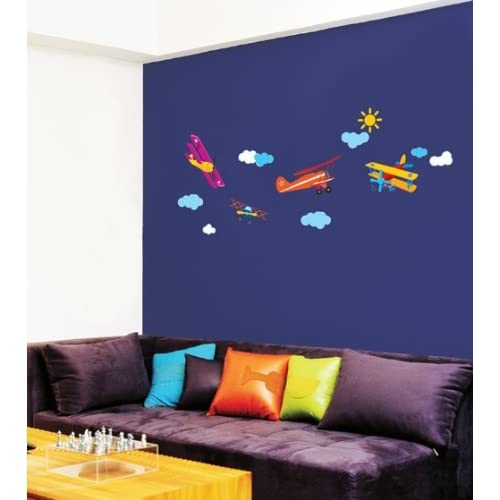 Jiniy AIRPLANE WALL ART DECOR Mural Decal STICKER(SS58223)