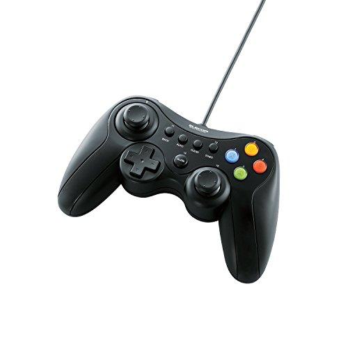 ELECOM ゲームパッド USB接続 Xinput/DirectInput両対応 Xbox系12ボタン振動/連射 【ドラゴンクエストX 眠れる勇者と導きの盟友オンライン推奨】 ブラック JC-U3613MBK