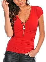 Bleu Marine Camiseta Manga Corta Karen (Rojo)