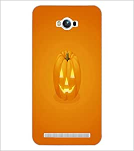 PrintDhaba Pumpkin Face D-2352 Back Case Cover for ASUS ZENFONE MAX ZC550KL (2016) (Multi-Coloured)