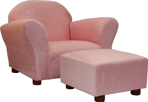 KEET Roundy Child Size Chair With Microsuede Ottoman Pink Ages 2 5 Years Fu