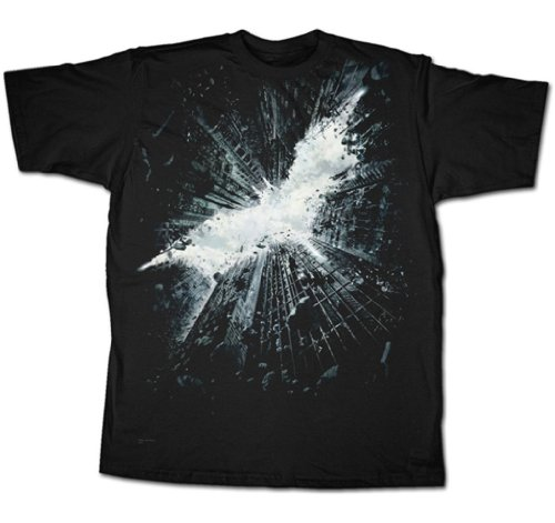 Batman T-Shirt The Dark Knight Rises Logo Black Authentic Officiailly Licensed by DC Comics Medium