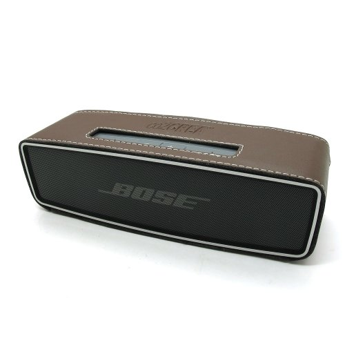 Co2Crea(Tm) Brown Pu Leather Case Skin Sleeve Bumper Protective Cover For Bose Soundlink Mini Wireless Bluetooth Speaker