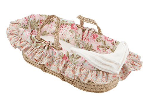 Cotton Tale Designs Moses Basket, Tea Party - 1
