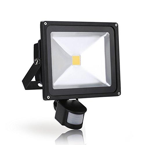 WIDEN ELECTRIC LED Lampe avec Capteur de Mouvement 30W Blanc Chaud Extérieur/ Intérieur IP65 LED Spot
