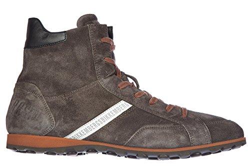 Bikkembergs scarpe sneakers alte uomo in camoscio nuove rascal 686 grigio EU 44 BKE106047