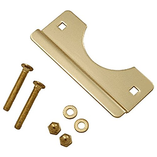 "Crl Brass 7"" Plated Latch Shield For Flush Mounted Doors By Cr Laurence front-840417"