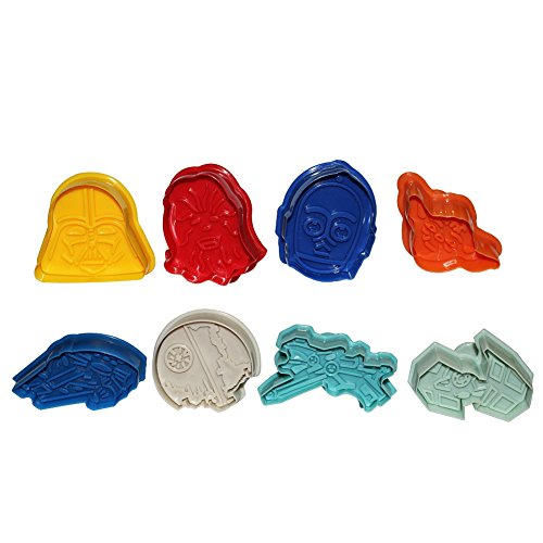 Great Deal! Star Wars Cookie Cutters Plungers 8 Pcs