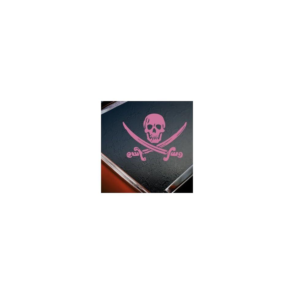 Jack Rackham Jolly Roger Pirate Pink Decal Car Pink Sticker