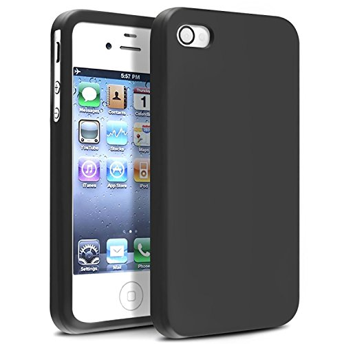 Insten Soft Black Silicone Rubber Case Compatible with iPhone 4 4S 4G 4GS G (Iphone 4 Silicone Cover compare prices)