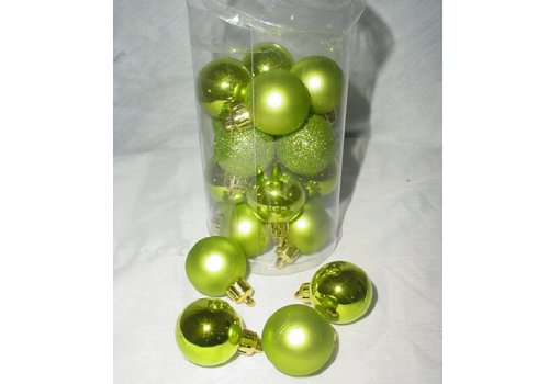Pack of 20 30mm Lime Green Baubles