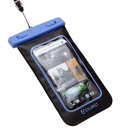 """Aduro Sport Waterproof Case/Bag For Smartphones With Audio Out """"Lifetime Warranty"""" For Apple Iphone 4 / 4S / 5 / 5S, Samsung Galaxy S3 / S4 / S5 / Note 3, Ipod Touch, Htc One X, Lg Nexus (Retail Packaging) (Blue)"""