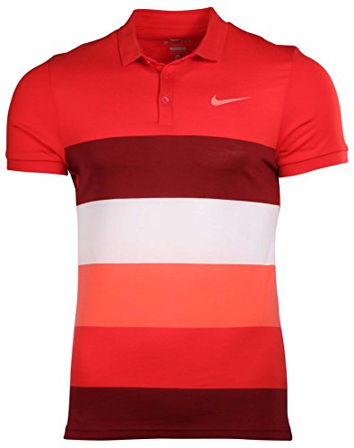 Nike Men's Dri-Fit Advantage Cool Tennis Polo Shirt-Red-Large (Nike Polo Advantage compare prices)