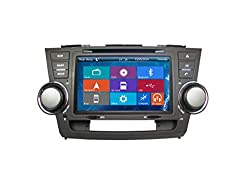 See Crusade Car DVD Player for Toyota Highlander 2008- Support 3g,1080p,iphone 6s/5s,external Mic,usb/sd/gps/fm/am Radio 8 Inch Hd Touch Screen Stereo Navigation System+ Reverse Car Rear Camara + Free Map Details