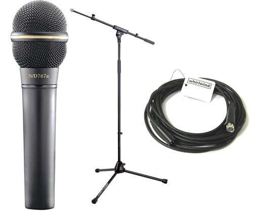 Electro Voice Ev767 Pro Mic Pack Dynamic Handheld Microphone, Tripod Base Mic Stand & 20 Ft. Xlr Cable