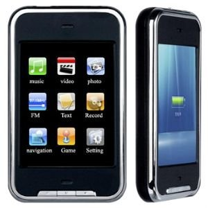 New 8GB 2.8 screen Touch Screen MP5 MP4 Mp3 GAME + support mini SD card to extend+ MIC and FM recording function