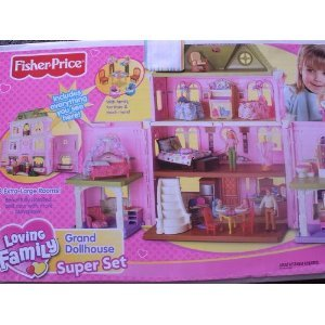 Fisher Price Loving Family Grand Dollhouse Super Set (Caucasion Family)