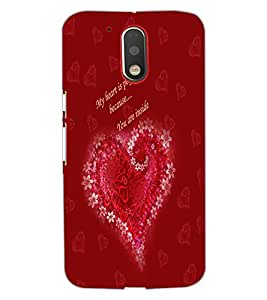 PrintDhaba Quote D-3192 Back Case Cover for MOTOROLA MOTO G4 (Multi-Coloured)