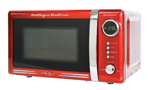 Nostalgia RMO770RED Retro Series 0.7 Cubic Foot 700-Watt Microwave Oven (Small Powerful Microwave Oven compare prices)