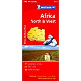 Africa North & West NATIONAL Map (Michelin National Maps)