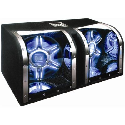 Dual Bp1204 12 1100W Car Audio Subwoofer Box Enclosure! Neon Lights!
