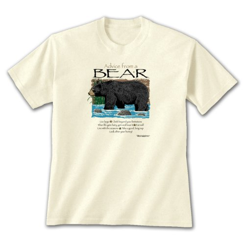 Advice From A Bear ~ Natural T-Shirt