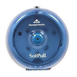 Georgia-Pacific SofPull 56514 Mini Splash Blue High-Capacity Centerpull Bathroom Tissue Dispenser (1 Each)